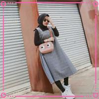 Baju Atasan Wanita Tunik Muslim 2in1 Iner Katun