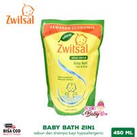 Zwitsal Natural Baby Bath 2in1 Hair & Body Sabun Shampo Bayi 450 ml