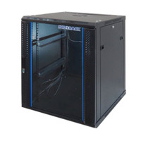 """INDORACK WIR5515S - 15U Wallmount Rack Depth 550mm Single Door 19"""""""