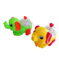 Mainan Robot Gajah Tarik berjalan dan menyala lampu Multiwarna
