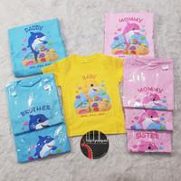 Kaos Anak dan Dewasa TYN Baby Shark PinkFong CUSTOM FAMILY MOMMY