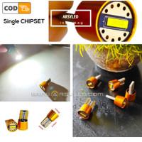 Lampu LED Senja Plat T10 Extrime Bright Single Chipset Mobil Motor