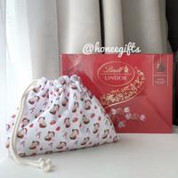 Paket natal xmas hampers coklat lindt lindor box free pouch katun kado