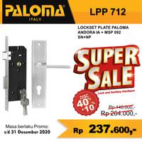 Kunci Set PALOMA LPP 712 Handle Mortise Cylinder Lock Gagang Pintu