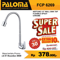 Keran Kran Air Flexible Sink Wastafel Dapur Tembok Tap PALOMA FCP 6269