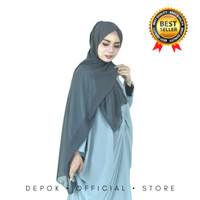 HIJAB BELLA PASHMINA DOUBLE HYCONT BEST QUALITY - Navy