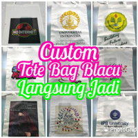Tote Bag Blacu Custom Langsung Jadi