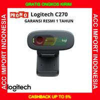 Webcam LOGITECH C270 HD 720p PC TV ZOOM Web Cam GARANSI RESMI 1 TAHUN