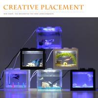 Aquarium Mini Model Lego Soliter Mini LED Putih Cupang