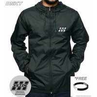 COD- Jaket Waterproof Pria Best Original 3Side Dsky 2 Warna Hitam M-XL - Hitam, M