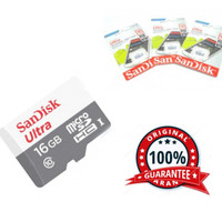 kartu Sandisk micro sd 16gb original isi full murni memori garansi a1