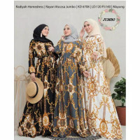 GAMIS HOME DRESS PARWATY RAYON BANGKOK MAXI DRESS MOTIF SYARI MAYUNG