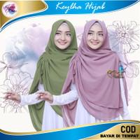 Jilbab Hijab Instan Murah Khimar Bergo Kerudung Syari Murah Original - hijau botol