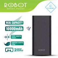 Power Bank 10000mAh ROBOT RT170 Dual Input & Output tipe - C. - Hitam