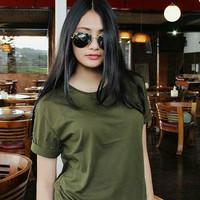 Kaos Polos Distro Original Unisex Pria/Wanita Tshirt Hijau Army