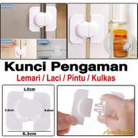 Kunci Pengaman Laci / Lemari / Kulkas DIY Lock