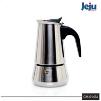 JEJU CM-143J Moka Pot Stainless Teko 6 Cups Coffee Maker Mesin Kopi