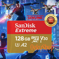 Sandisk MicroSD MicroSDXC Card 128GB Extreme A2 V30 UHS-1 Non Adapter