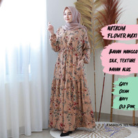 NATASHA MAXI Baju Atasan Muslim Wanita Gamis Dress Fashion Muslim