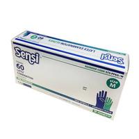 Sensi Gloves Sarung Tangan Latex Medis ( 60 Pcs ) Size M