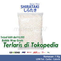 Shirataki rice low carbs / beras shirataki kemasan 1000gr / 1KG