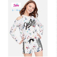 JUSTICE SWEATER ANAK PEREMPUAN / JUSTICE SWEATSHIRT WHITE 6 - 24 Y