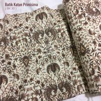 Kain Batik Bahan Katun Primisima Halus BK30 Ivory Pria Wanita 0,5 Mtr