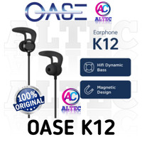 OASE Bluetooth Wireless Sport Earphone K12 Magnetic Deisgn RESMI