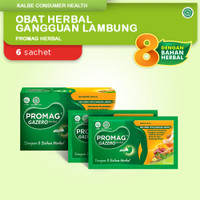 Promag Herbal (Gazero) Obat Herbal Gangguan Lambung (Maag Herbal) 1Box