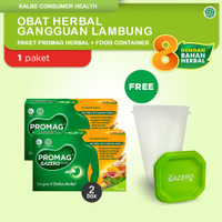 Promag Herbal (Gazero) Obat Herbal Gangguan Lambung & Food Container