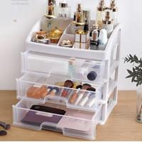 Rak Kosmetik 3 Laci Kotak Makeup Tempat Kosmetik Lipstik Multifungsi