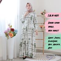 ZALIN MAXI Baju Atasan Muslim Wanita Gamis Dress Wanita Fashion Muslim