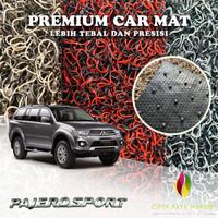 Karpet Mobil Premium MITSUBISHI Pajero Sport Non Bagasi 2 Warna - BLACKGREY