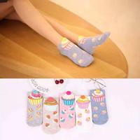 Kaos Kaki Dewasa Cupcake Lucu Cute Cupcake Cotton Socks