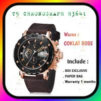 T5 H3641 jam tangan pria chronograph original coklat hitam rose