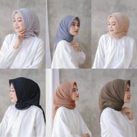 hijab bella square murah premium quality / hijab segiempat / jilbab - Hitamm