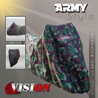 Cover motor CBR 150 motif ARMY - army