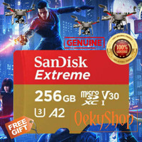 Sandisk MicroSD MicroSDXC Card 256GB Extreme A2 V30 UHS-1 Non Adapter