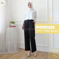 Celana Kulot Wanita   Kulot Mode Wanita Berbahan Scuba HQ MS001 - Black, L
