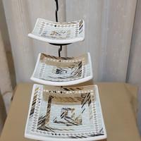 Platter Set Dekorasi untuk snack dan makanan, Asli Bali, Bisa PreOrder