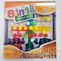 Board Game 8 In 1 Family Game Magnetic Board Catur Checker Ludo Chess