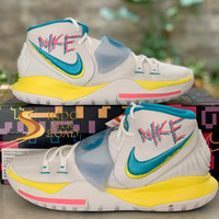 Sepatu Basket Nike Kyrie 6 Neon Graffiti BQ4630-101 ORIGINAL