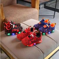 FIRE SPIDER Sepatu Sport Anak Laki-Laki Casual Bayi Dengan Lampu LED