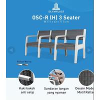 Kursi Teras Plastik 3 Dudukan OLYMPLAST OSC-R (H) 3 Seater