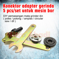 Konektor Adapter Gerinda for Mesin Bor 1 SET = 5 PCS