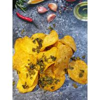 Keripik Kentang Asli Potalo Snacks - Salted Egg Potato Chips