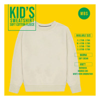 crewneck sweater soft cotton anak polos abu misty premium