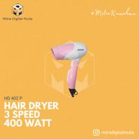 Miyako HD 402 P Hair Dryer / Pengering Rambut 3 Speed [ 400 Watt ]