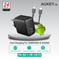 Aukey Charger PA-B4 + Aukey Cable CB-CD19