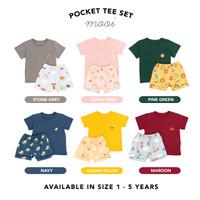 Kaos Anak Tshirt Pocket Mooi Bordir